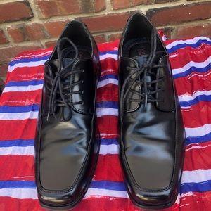 Dexter Comfort Black Lqce-Up Dress Shoes sz 11 1/2